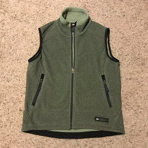 REI Fleece Zip Up Vest Olive Green